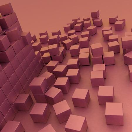 assembling: damaged assembling of blocks