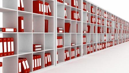registros contables: armario de oficina, aislado en un fondo blanco