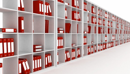 office closet, isolated on a white background