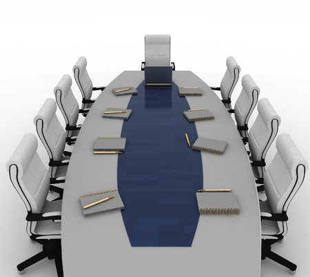 elbow chair: Conference Table with empty chairs for modern office