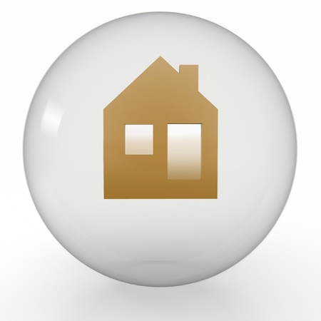 an icon of house is in a transparent ball Stock Photo - 17247282