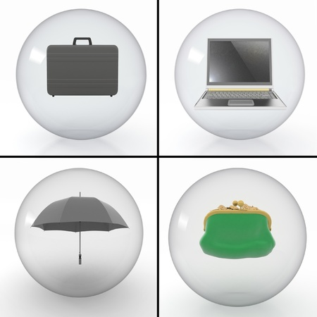 set of objects for a businessman photo