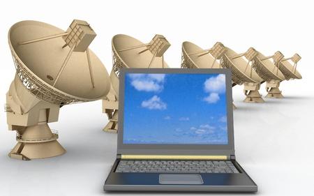 Global communication  3d render illustration  illustration