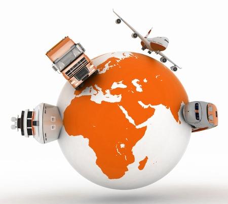 地球上の輸送のタイプ 写真素材