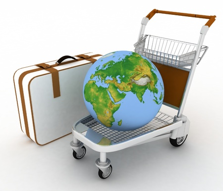 sack truck: transportation of earth on a freight light cart