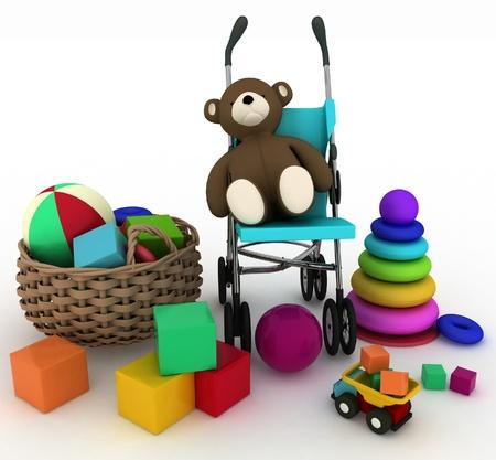 3d render illustration of child