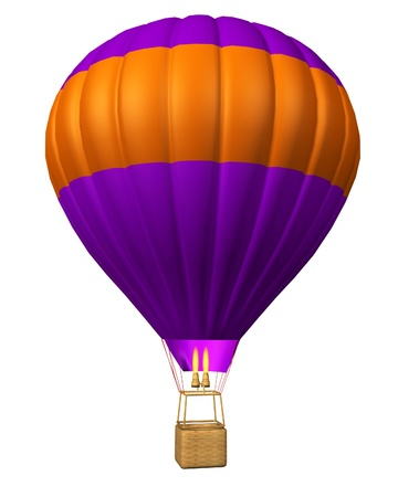 buoyant: hot air balloon isolated on a white background