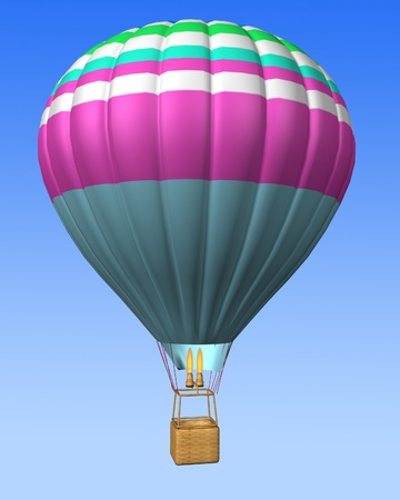 buoyant: hot air balloon isolated on a sky background