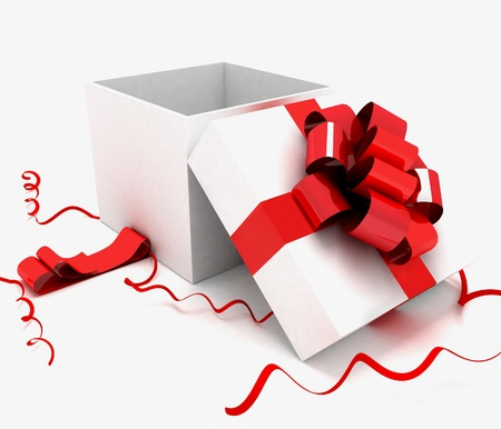 3d illustration of box with gifts illustration