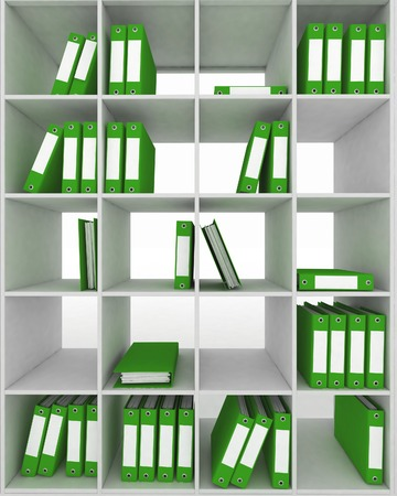 Office cupboard with different folders  3d image Imagens - 22611097