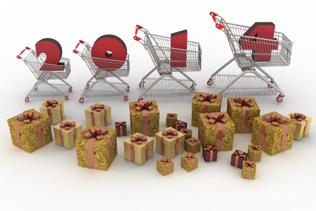 concept of new-year sales  3d illustration on white background  illustration