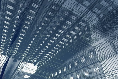 construction project: Abstract modern building Stock Photo