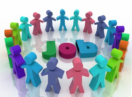 job opportunity: People looking for job   Career opportunity concept  3d illustration on a white background