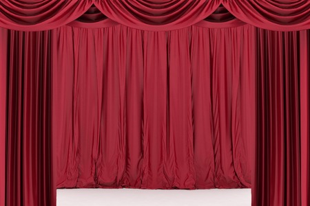 Red theater curtain photo