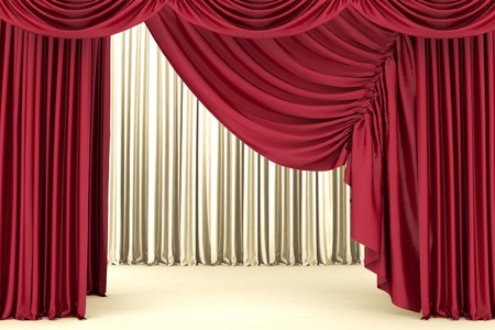 awards ceremony: Red theater curtain