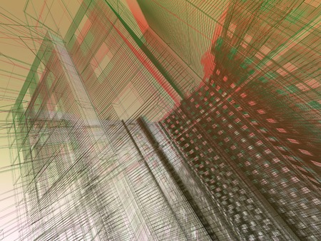 site: 3d render abstract modern architecture background
