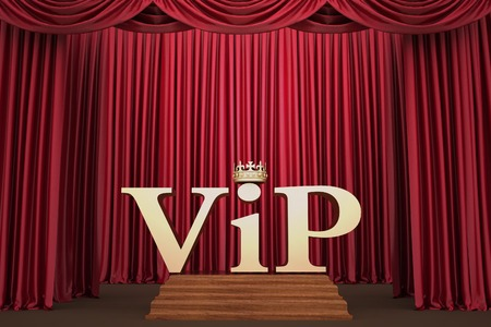 VIP on pedestal on the scene illumination a searchlight  3d render illustration illustration