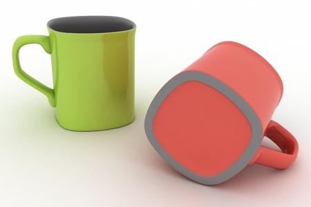 コーヒー 3 d イラストのカップ 写真素材