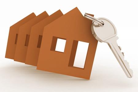 Modelsl houses symbol and key photo