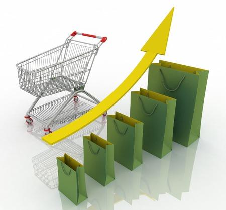 commodities: Tabla de crecimiento de ventas. La presentaci�n de una mejor econom�a de conseguir y el aumento de los ingresos del negocio de la venta de productos y servicios.