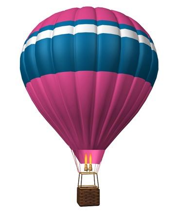 adventure aeronautical: hot air balloon isolated on a white background
