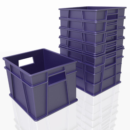plastic to containers: plastic containers on a white background