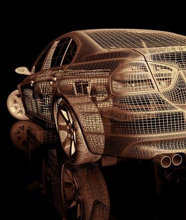 computer model: 3d car