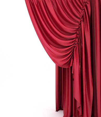 red theater curtain: Red theater curtain background Stock Photo