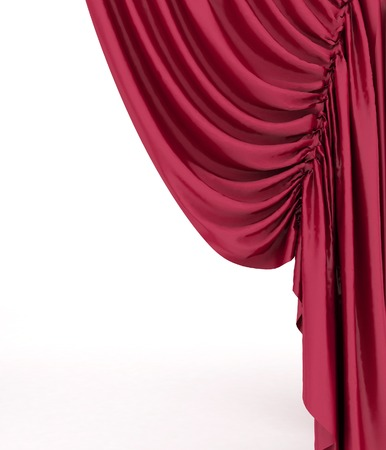 theater curtain: Red theater curtain background Stock Photo