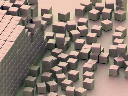assembling: Damaged assembling of blocks Stock Photo