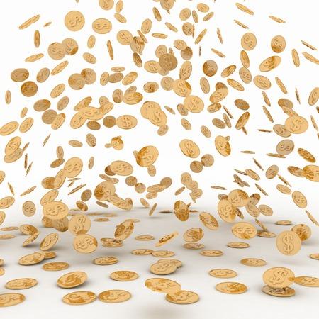 golden coins: Rain from the golden coins