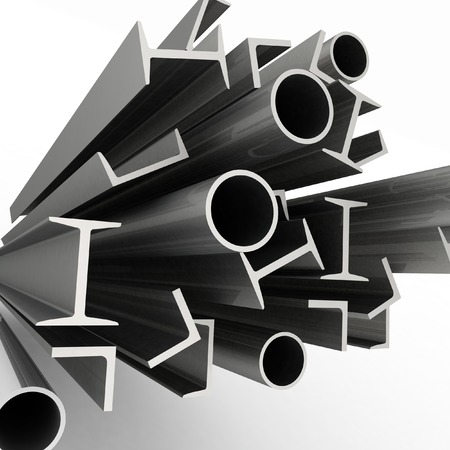 burnish: Construction metals background  Stock Photo