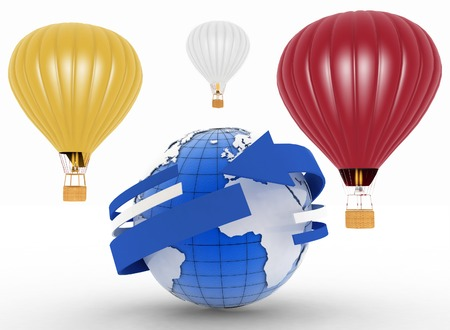 aerostatics: hot air balloons