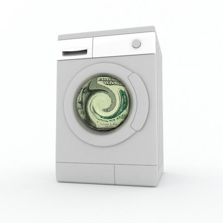 laundering: Washer. Laundering of money. Stock Photo