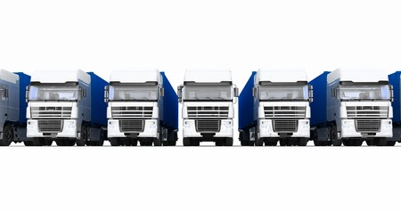 autotruck: Trucks with semi-trailer isolated on white background