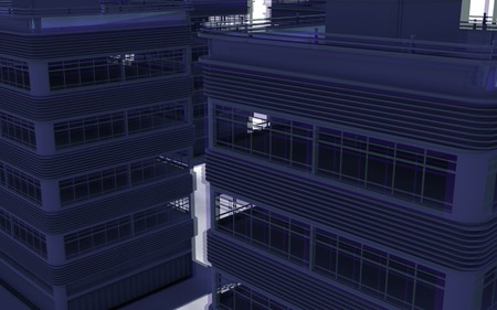 overflow: Abstract modern architecture. 3d render background