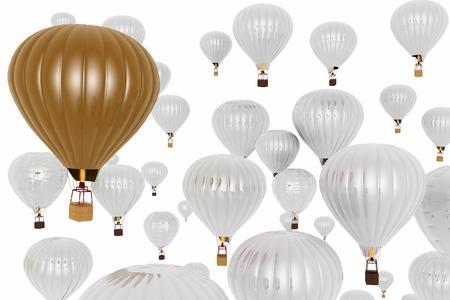 adventure aeronautical: Hot air balloons. Stock Photo