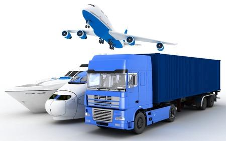 render: Transport. 3d render illustration