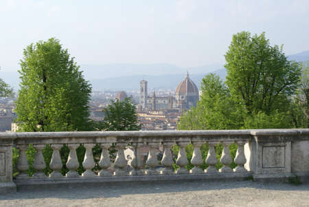 Florence, Italy: panoramic view of the cathedral and the city centre from piazzale Michelangelo