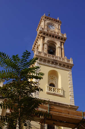 Bell tower of the Agios Minas Orthodox Cathedral in Heraklion, Crete (Greece)