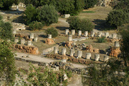 Athens, Greece: the remains of the Civic Offices in the Ancient Agora
