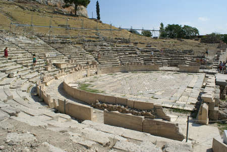 Theatre of Dionysus on the slope of the Acropolis of Athens, Greece Foto de archivo