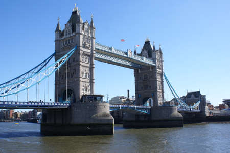 London, UK: a view of the Tower Bridge on the river Thames