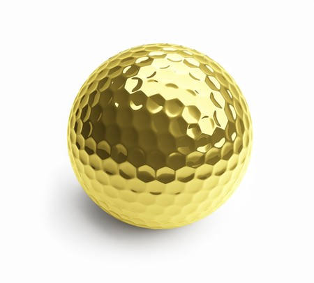 gold ball on a white background