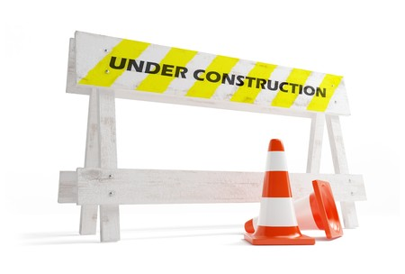road construction on a white background photo