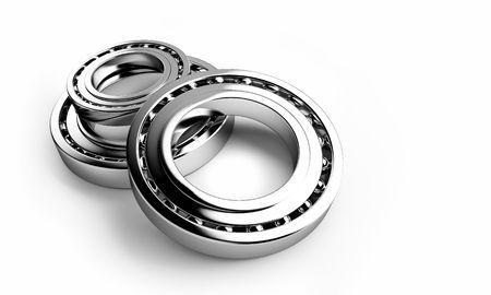 bearing on a white background photo