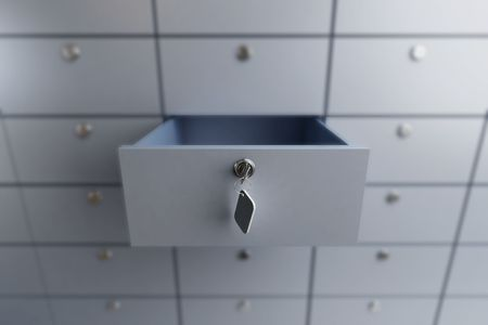 drawers: opened empty bank deposit cell