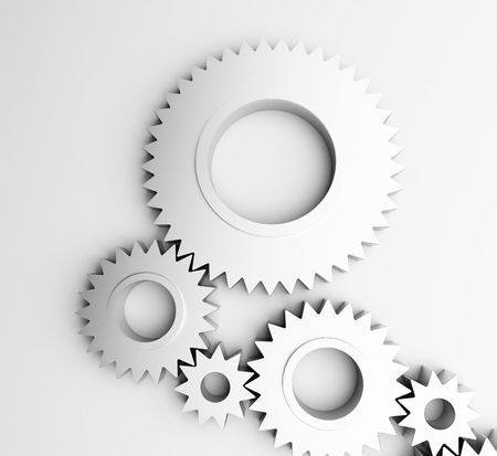 gear isolated on a white background photo