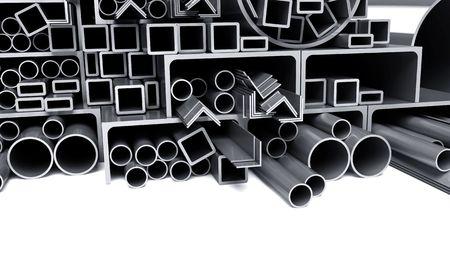 firmeza: tubos met�licos de fondo, las esquinas, los tipos Foto de archivo
