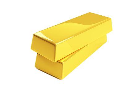 gold bullion isolated on a white photo